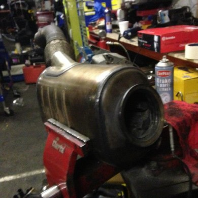 DPF removed and being dismantled